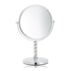 Jerdon LT5165C 8-Inch Tabletop Two-Sided Swivel Mirror with 5x Magnification