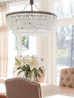 Clarissa Crystal Drop Round Chandelier | Round chandelier