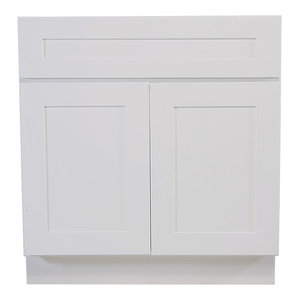 "Brookings Unassembled Shaker Sink Base Kitchen Cabinet 36"", White"