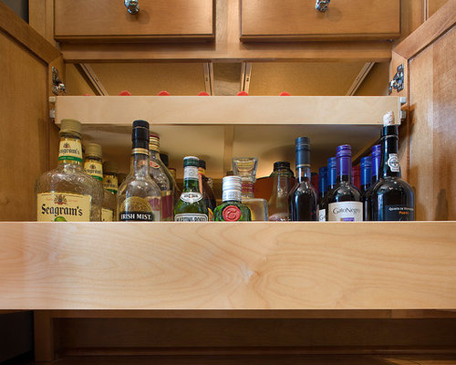 Pull Out Shelves for Your Wet Bar or Liquor Cabinet