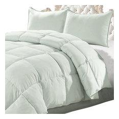bnf home down alternative 3 piece comforter set chalk blue queen comforters