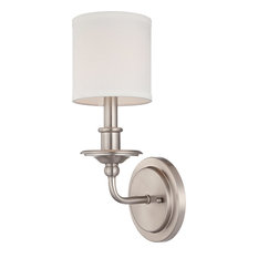 Savoy House Aubree 1-Light Sconce, Satin Nickel