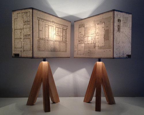 Architectural Plans Lampshades - Table Lamps