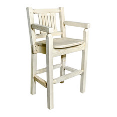 Homestead Collection Captain's Barstool Clear Lacquer Finish