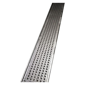 "Quartz by Aco Linear Drain Quadrato Design Plain Body, Stainless Steel, 48"""