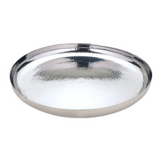 AULICA - Hammered Round Serving Tray - Serving Trays
