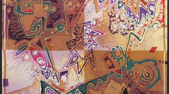 """""""Совершенный мир (батик)""""  Передвижная выставка Арт-галереи """"Кобальт"""""""