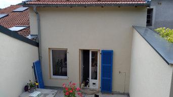 Rénovation façade avec reprise de volets