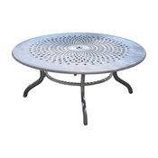 """Chelsea 60"""" Round Table, Cast Aluminum, Bronze Finish"""