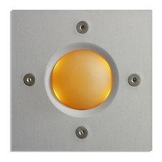Square Doorbell Button, Orange