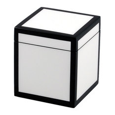White and Black Lacquer Canister