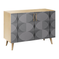 Smokescreen Flare Credenza Natural/Brass
