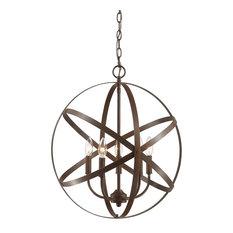 "Millennium Lighting 5 Light 20"" Chandelier, Rubbed Bronze"