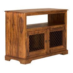 Merlin TV Cabinet, Metal Lattice Doors