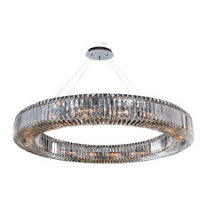 """Rondelle Round Pendant, Firenze Clear, 47"""""""
