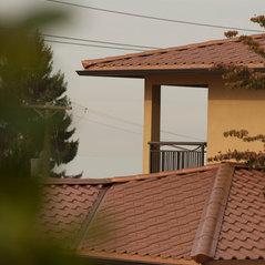 Aged Copper Interlock Metal Tile Roof