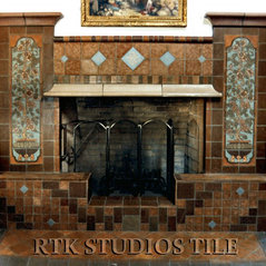 Fireplace With Rosa Vieja Tile Murals And Custom