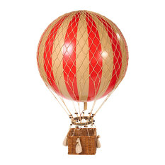 Authentic Models Jules Verne Balloon, Red, Decor