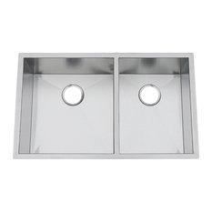 Chef Pro Zero-Radius 16 Gauge Double Bowl Sink