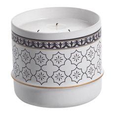 Napia 29 oz. Ceramic Candle Jar, White Rose