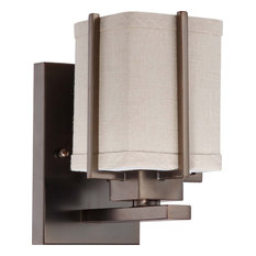 Bronze Wall Sconce With Fabric Shade : Wall Sconces with a Fabric Shade Houzz