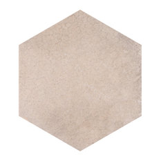 """SomerTile Heritage Hex 7"""" x 8"""" Porcelain Floor and Wall Tile, Rose"""