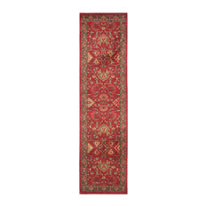 """Safavieh - Safavieh Meek Woven Rug, Red and Navy, 2'2""""x8' - Hall and Stair Runners"""