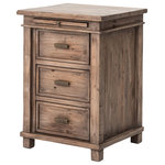 Zin Home - Sierra Reclaimed Wood Bedside Cabinet - Sierra Bedside Cabinet is a unique celebration of the late 1800s when many of the world's great lands were being settled. Nightstand authentically captures the style of a modern pioneering time when the heavy furniture of the Georgian period was changing to a lighter , more country cottage style. Each Nighstand is bench-built and hand-finished using solid reclaimed or recycled wood.