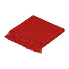 Alpaca Throw/Blanket, Plain, Red