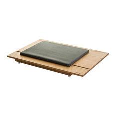 """Mira 1"" Chestnut Dog Bed With Microfiber Cushion, ""Malva"" Grey, Classic"