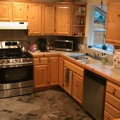 Knotty White Oak Cabinets: Knotty Pine Kitchen Cabinets