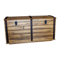 Amish Blanket Storage Trunk Wormy Maple Rough Sawn Hardwood Handmade, Fruitwood