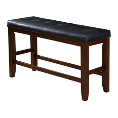 Crown Mark Bardstown Counter Height Bench Espresso