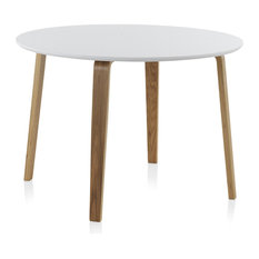 Gijón Round Wooden Dining Table, White