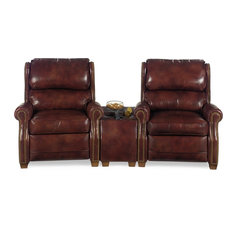 Superb EuroLuxHome   Wedge Home Theater Wood Leather Nailhead   Theater Seating