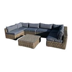 Mayfair 7-Piece Modular Rattan Garden Furniture Set
