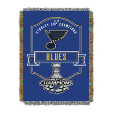 NHL St. Louis Blues 2019 Stanley Cup Champions Woven Tapestry Throw Blanket