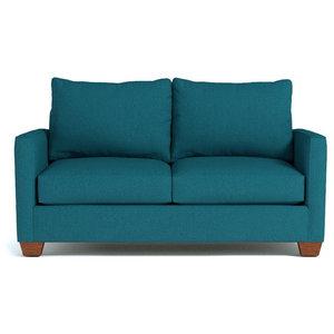 Tuxedo Apartment Size Sleeper Sofa, Innerspring Mattress, Biloxi Blue