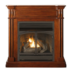 Duluth Forge Dual Fuel Ventless Gas Fireplace, 32,000 BTU, Remote, Autumn Spice