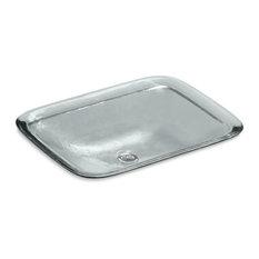 Kohler Inia Wading Pool Glass Rectangular Vessel Bathroom Sink, Ice
