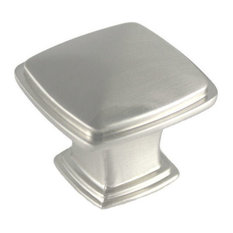 "Cosmas 4391SN Satin Nickel 1-1/4"" Square Cabinet Knob"