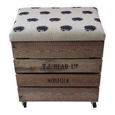 Apple Box Breakfast Barstool, Hedgehog