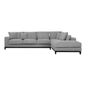 Kellan Sectional Sofa, Right Chaise, Light Gray