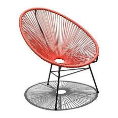 Harmonia Living Acapulco Patio Chair, Atomic Tangerine