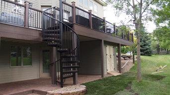 two tier composite deck