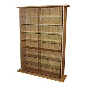 Boston Glass Collectable Display Cabinet, Oak