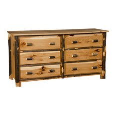 Rustic Hickory Dresser 6-Drawer