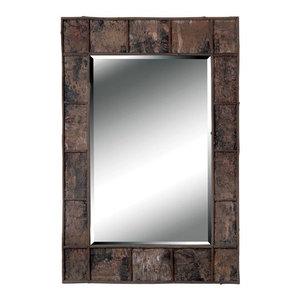 Birch Bark Wall Mirror, Natural Birch Bark Finish