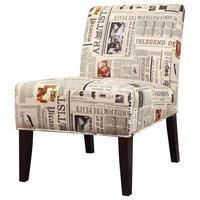 Accent Chair, Newspaper Print