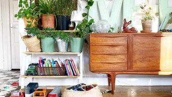 Décoration d'un bien complet : chambre, salon et cuisine